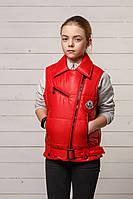 Красная жилетка детская для девочки интернет магазин