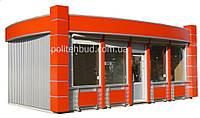 Торговые павильоны с фасадом из алюминиевого композита