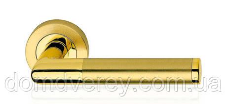 Дверная ручка Karina латунь/латунь матовая Linea Cali