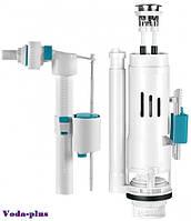 Двухуровневая арматура (с двойным сливом 3/6л) для сливного бачка с клапаном боковой подачи воды