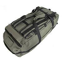 Сумка-рюкзак дорожная Natursport Transporter 80 литров Водоотталкивающая ткань 600Dх600D Оливковая