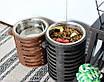 КІТ-ПЕС by smartwood Миска на підставці | Миска-годівниця металева для собак цуценят - 1 миска 1700 мл, фото 2