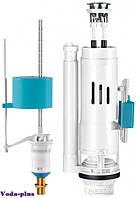 Двухуровневая арматура (с двойным сливом 3/6л) для сливного бачка с клапаном нижней подачи воды