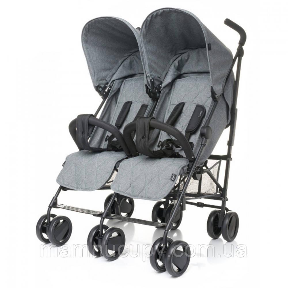 Детская прогулочная коляска для двойни 4baby (Twins) Grey