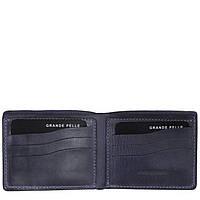 Синий мужской кошелек из кожи Grande Pelle Onda