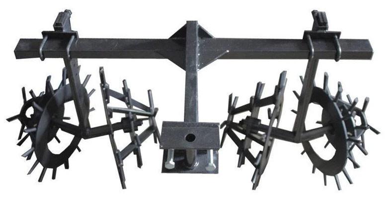 Комплект ежей на двойной сцепке для мотоблока (на втулках) ТМ ШИП
