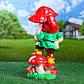 Садовый Гном Welcome на грибах 41 см гипс, фото 4