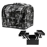 "Сумка-чемодан для мастера  ""Гламур"" YRE (черный)"