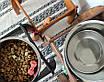 КІТ-ПЕС by smartwood Миска на підставці   Миска-годівниця металева для собак цуценят - 1 миска 2800 мл, фото 8