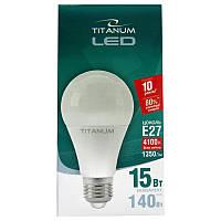 Лампочка  светодиодная Titanium A65 15W E27 4100K