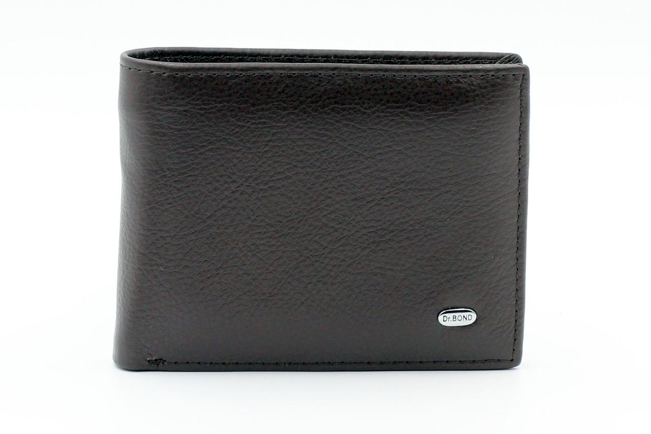 Компактный кошелек из натуральной мягкой кожи коричневый Dr.Bond (20842)