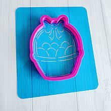 Трафарет + формочка-вирубка для пряника Кошик з яйцями №3