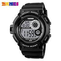 Skmei 1222 черные мужские спортивные часы, фото 1