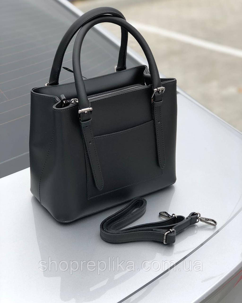 Жіноча шкіряна Люкс Італія чорний колір Віра Пелле