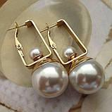 Сережки с жемчужиной в серебре, фото 4
