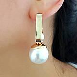 Сережки с жемчужиной в серебре, фото 5