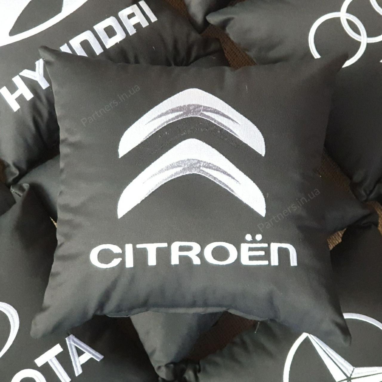 Подушка с логотипом Ситроен (Citroen)
