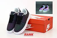 Кроссовки женские Nike Air Force 1 в стиле Найк Аир Форс 1 черные рефлектив