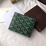 Бумажник Goyard 20936 зеленый, фото 2