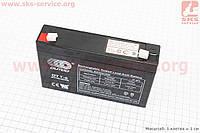 Аккумулятор OT7-6 - 6V7Ah (L151*W35*H94mm) 2020