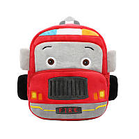 Рюкзак велюровый детский Car (красный)