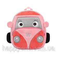 Рюкзак велюровый детский Car (розовый)