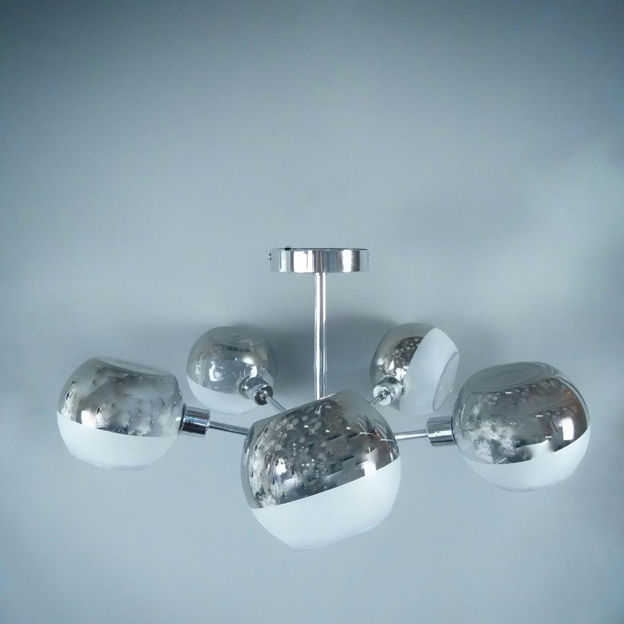 Люстра підвісна на 5 лампочок 29-C986/5 CR+SM+WT (1шт) E27 CT