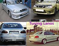 Lanos, Sens - Бампер передний и задний, пороги, спойлер, клыки, реснички, юбка, губа