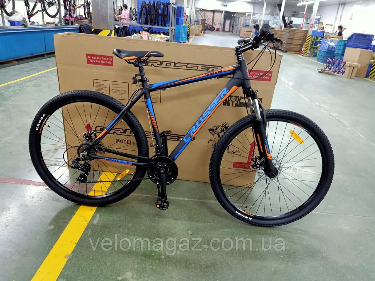 """Велосипед Crosser Grim*21 29"""" горный алюминиевый черный"""