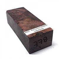 Стабилизированная древесина брусок Кап клена  КРИЛАТ 118х43х33