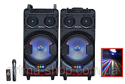 Акустическая система комплект активная Ailiang UF-1021-DT FM+USB+Bluetooth Мощность 300 Ватт Микрофона караоке