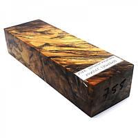 Стабилизированная древесина брусок Шпальт каштана  КРИЛАТ  130х43х31
