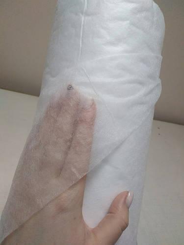Ткань фильтровальная 17 г/м2, шир. 1.6 м, 100м, белый - фото 2