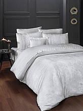 Шикарный Комплект постельного белья евро Moonlight V.I.P Buhara Beyaz Турция бренд First Choice