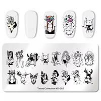 Пластина для стемпинга Tattoo Colection ND 002