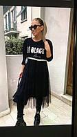 Плаття жіноче з шифоновим низом