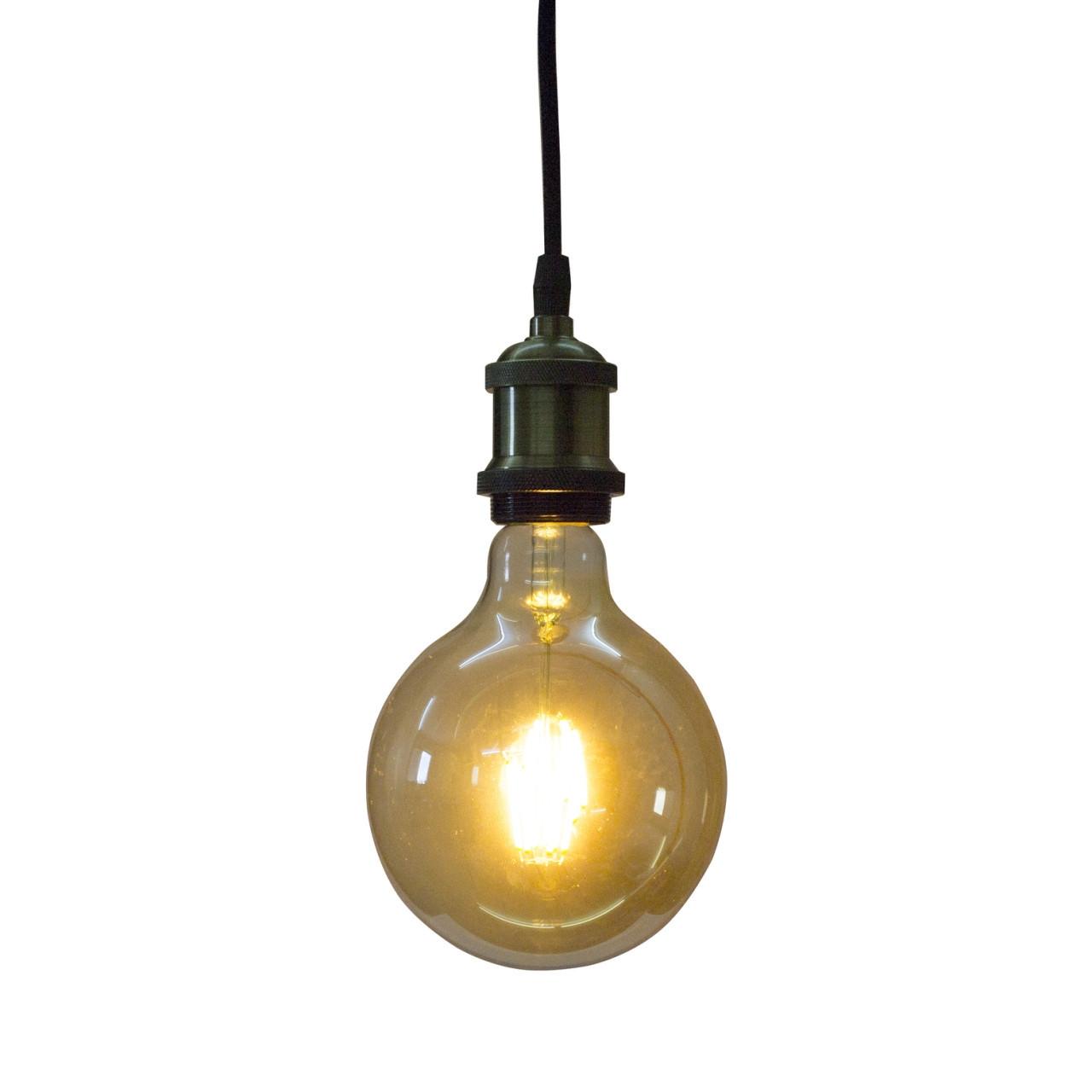 Светодиодная винтажная лампа Filament 6w E27 Rustic Globe-6 Horoz Electric