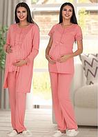 Пижама для беременных и кормящих мам Polatyildiz shiny-pink L/XL