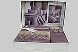 Шикарный Комплект постельного белья евро Moonlight V.I.P Vitaly Leylak бренд First Choice, фото 3