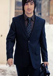 Мужской темно синий костюм классический
