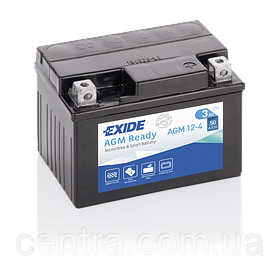 Мото аккумулятор EXIDE AGM12-4