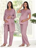 Пижама для беременных и кормящих мам Polatyildiz cosy-violet