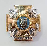 Кокарда крест ВМС нового образца пластик \ Військово-Морські Сили України на кашкет, фото 1