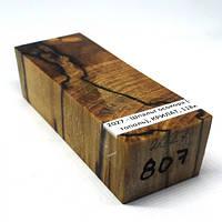 Стабилизированная древесина брусок Шпальт осокора (черный тополь)  КРИЛАТ  118х41х32, фото 1