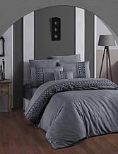 Шикарный Комплект постельного белья евро Moonlight V.I.P Mona Gri Турция бренд First Choice