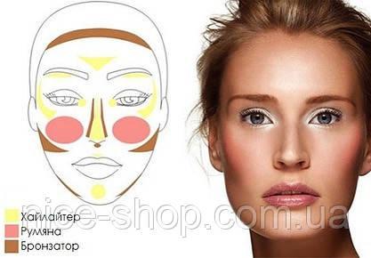 Хайлайтер- бронзер  Aden Cosmetics Highlighter & Bronzer Duo, фото 2