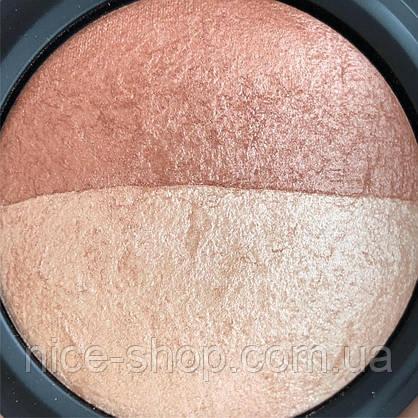 Хайлайтер- бронзер  Aden Cosmetics Highlighter & Bronzer Duo, фото 3