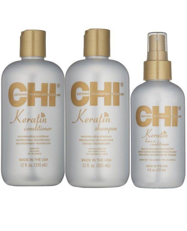 Набор CHI Keratin (silk/177ml + shamp/355ml + cond/355ml)