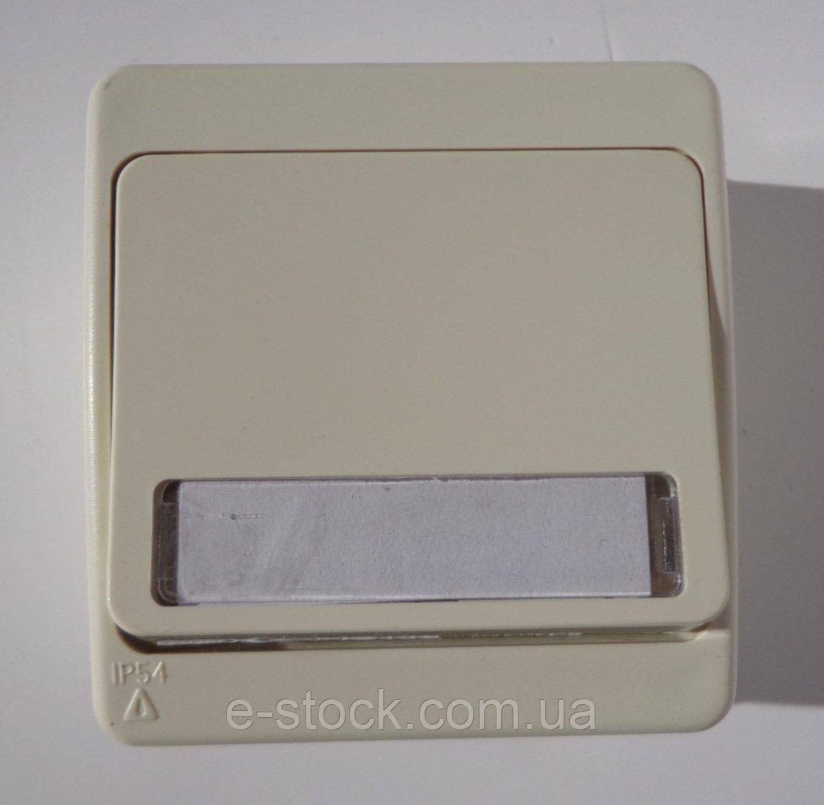 Nemli кнопка звонка 1-ая с подсветкой и местом под этикетку влагозащищенная серая