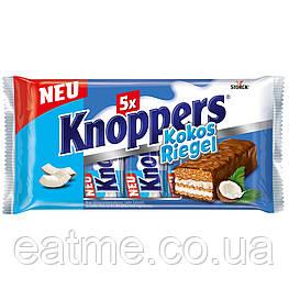 Knoppers KokosRiegel Вафельные батончики с кокосом и карамелью